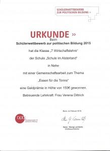 BPB Urkunde